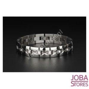 OP=OP Magnetische Heren Armband Bling incl. tool en geschenkdoos (Zilver - 21,5cm)