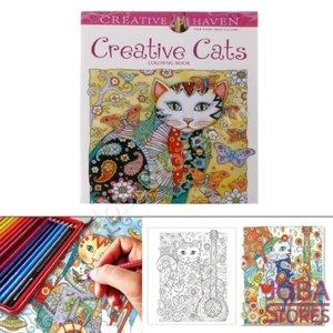 """Kleurboek voor volwassenen """"Creative Cats"""" (24 pagina's)"""