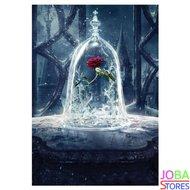 """Diamond Painting """"JobaStores®"""" Roos in stolp - volledig - 30x40cm"""