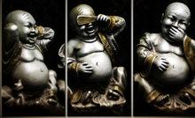 """Diamond Painting """"JobaStores®"""" Horen-Zien-Zwijgen Buddha - volledig - 60x40cm"""